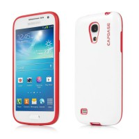 Capdase Samsung Galaxy S4 Mini Case, Soft Jacket Vika (White/Red)