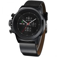 [Weide Japan Quartz Miyota] jam tangan pria Leather Sports 30M Water Resistance