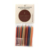 [poledit] Honey Candles 100 Pure Beeswax Birthday Candles (Pack of 20 Royal Color, 3 Inch /14700536