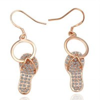 Silver-plated 18K gold diamond earrings female jewelry 73cg275 Hollister boutique [Milan]