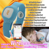 Smart Wireless Thermometer Baby - Bayi - Biru