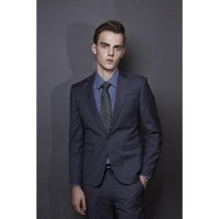 Life8 texture will be. Slim version. Single-button pinstripe business suit jacket 11060