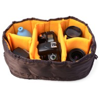 Case Cover Waterproof DSLR SLR Camera Lens Insert Partition Padded Bag Pouch For Travel -LF381