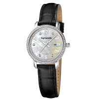 (moment watch) guy laroche -L2020-01 jam tangan wanita leather strap - hitam
