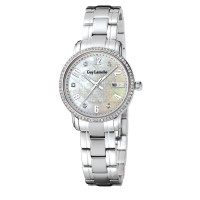 ( moment watch ) guy laroche L2020-02 jam tangan wanita - stainlles steel - putih