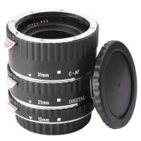 Extension Tube Set 58mm for Canon EOS 60D 70D 600D 700D 550D 500D 1100D METAL SILVER -DC373