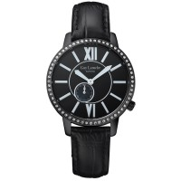 (moment watch) guy laroche L20203 jam tangan wanita - leather strap - hitam