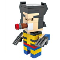 HSANHE BLOCK 6304 Action Figure Cube Nano Micro World Series Wolverine
