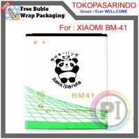 BATERAI DOUBLE POWER RAKKIPANDA BM-41 for XIAOMI REDMI 1S | TOKOPASARINDO #039