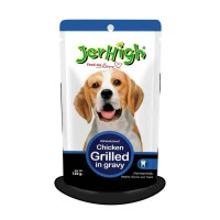 CPPETINDO Jerhigh Dog Wet Food Pouch Chicken Grilled in Gravy - 120gr
