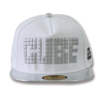 Snapback TOPI WHITE SILVER (PU) PIC CUBE SBS70335_WHT