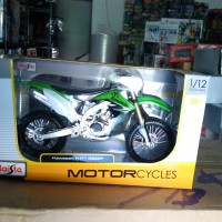 Diecast Trail Kawasaki K 450F Green 1/12 Maisto Metal for SHF or Figma