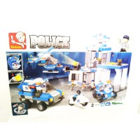Blok Sluban - Police Station And Vehicles Set Blocks (M38-B0192)