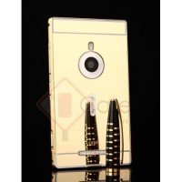 Aluminium Metal Bumper Case with Mirror Cover - Microsoft Lumia 925