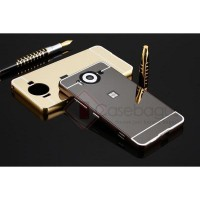 Aluminium Metal Bumper Case with Mirror Cover - Microsoft Lumia 950