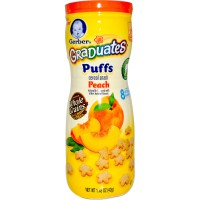 Gerber Graduates Puffs Cereal Snack Peach Size 42gr Flavour Peach Age 6M+