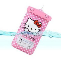 Kantong Sarung Anti Air Waterproof Bag Cover Case Hello Kitty Doraemon