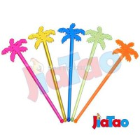 [globalbuy] 50PCS/LOT The Coconut Tree Cocktail Swizzle Sticks Drink Stirrer Coffee muddle/3745472