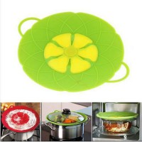 [globalbuy] Cooking Tools Flower Petal Boil Spill Stopper Silicone Pot Lid Cover For Pan C/3745445