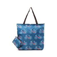 London Berry by HUER - Marvin Packable Shopper Bag Bicycle Blue