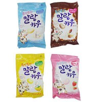 [poledit] Skinny Red Korean Lotte Soft Malang Cow Chewy Candy 2.22 Oz (Pack of 4) - Banana/14411768