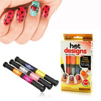 6 Color Starter Kit Hot Design Nail Art Basic Kit - Red Blue Green Black White & Pink Salon Polish