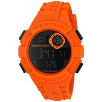 [worldbuyer] Superdry Mens Radar Quartz Plastic and Silicone Dress Watch, Color:Orange (Mo/3172176