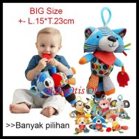 Bandana Buddies Rattle SKK Baby Mainan Boneka Gigitan Teether Bayi - Lion