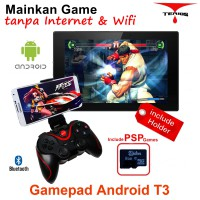 Terios T3 play game tanpat Wifi Android bluetooth gamepad VR Box wireless TV Box (T3+Holder+8GG02)