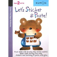 [HelloPanda] Kumon First Steps Workbooks LET'S STICKER & PASTE! (Ages 2 and Up)