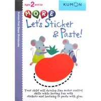 [HelloPanda] Kumon First Steps Workbooks MORE LET'S STICKER & PASTE! (Ages 2 and Up)