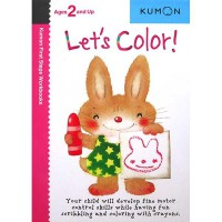 [HelloPanda] Kumon First Steps Workbooks LET'S COLOR! (Ages 2 and Up)