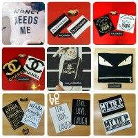 Kaos Wanita Tangan panjang (Blessed/ Avada/ Chanel/ Daydreamer/ Fendy/ Young/ Live Love/ My Trip/ Superman/ Money)