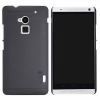 Nillkin Frosted Hard Case HTC One Max (8088) Black + Screen Protector