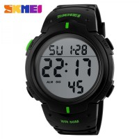 Skmei Pioneer Sport Watch Water Resistant 50m - GREEN - Dg1068