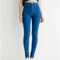 Punny Jeans Highwaist Electric blue