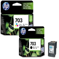 [Paket Hemat] Tinta HP Deskjet 703 Black & Tri-color Ink Cartridge