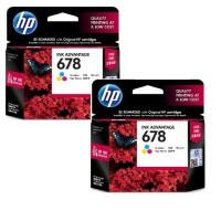 [Paket Hemat] 2Pcs Tinta HP 678 Tri-color Ink Cartridge