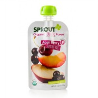 Sprout Organic Acai Berry Superfruit Puree Spouted Pouch