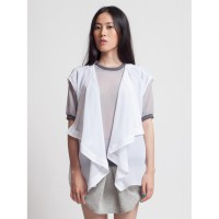 Apparelluxe - Waterfall Vest White