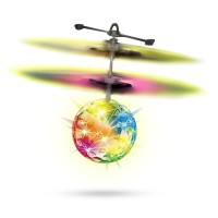 Flying RC Ball Infrared Induction Mini Aircraft Flashing Light Remote Toys For Kids GRATIS ONGKIR