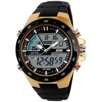Jam Tangan Skmei Ad1016 Casio Men Sport Led Watch - Golden
