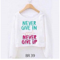 BANTING HARGA Teal-Store Babyterry Crope (Will Be & Never Give Up) - Babyterry Tebal
