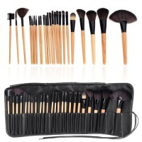 Universal Foundation Eyeshadow Eyeliner Lip Makeup Brushes and Applicators Cosmetic Tool Soft- 24PCS