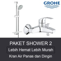 PAKET SHOWER 2 - Kran Air Bath & Shower Set Grohe (Panas & Dingin) Made in Germany