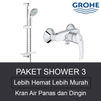 PAKET SHOWER 3 - Grohe Kran Air Shower Only Set Made In Germany
