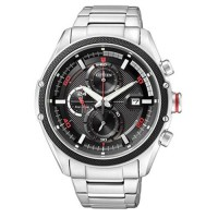 Citizen CA0120 Eco-Drive Jam Tangan Pria Hitam Stainless Steel
