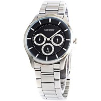 Citizen AG8350 Multifunction Jam Tangan Pria Hitam Stainless Steel