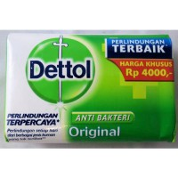 [holiczone] Dettol Anti-Bacterial Hand and Body Bar Soap, Original, 110 Gr / 3.88 Oz (Pack/320189