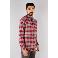 OllieIndustries Flanel Shirt Gloomy Series - Red Striped Grey